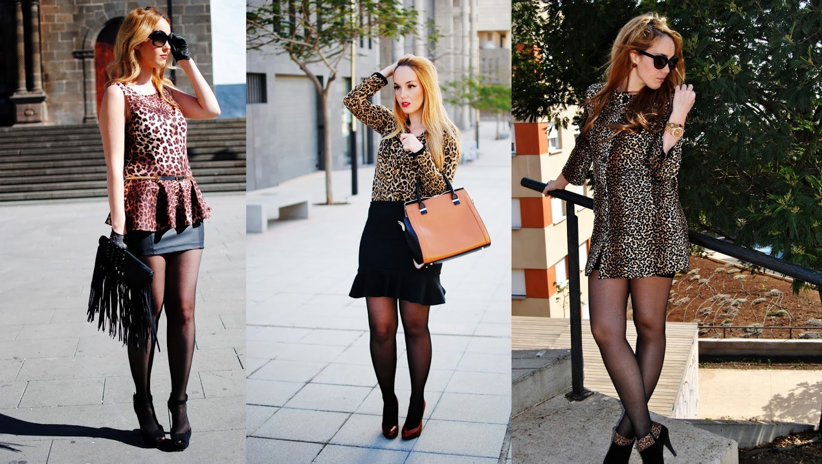 nery hdez, blonde , print animal , gloves, estampado leopardo