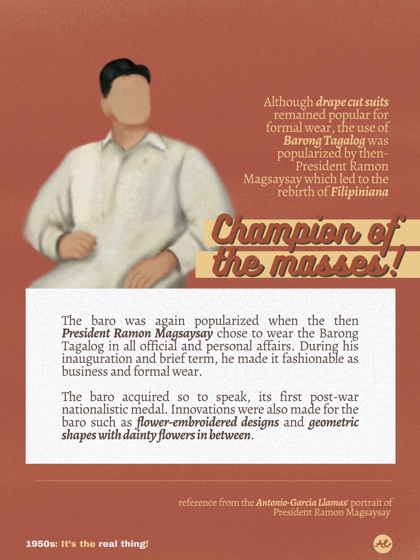 The Barong Tagalog, by Presidential Endorsement