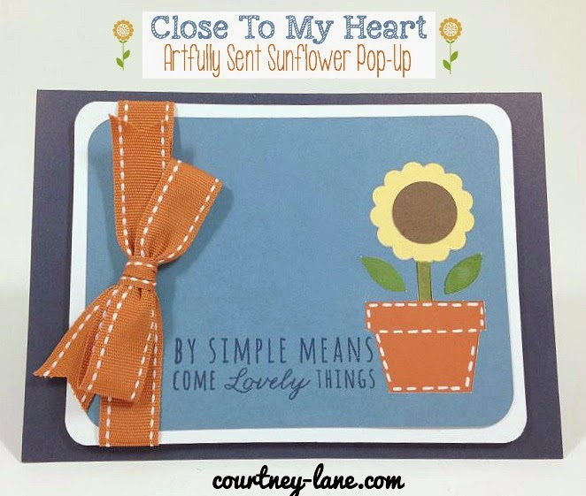 Close To My Heart Artfully Sent Cricut cartridge sunflower pop up card
