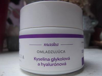 Dulcia Omladzujúca maska s kyselinou glykolovou a hylaurónovou
