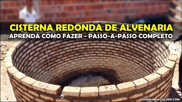 Como fazer Cisterna Redonda Alvenaria