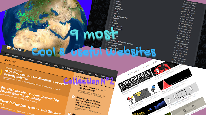 9 Cool & useful Websites  | Collection N°2