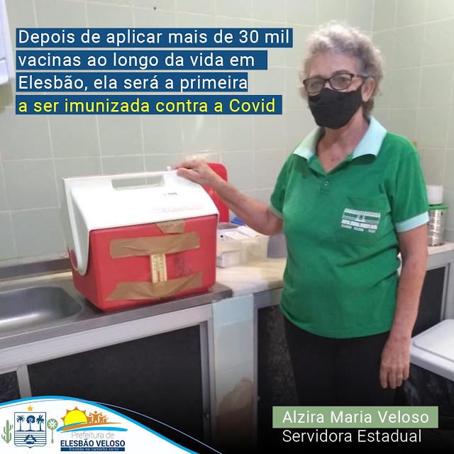 Elesbão Veloso: Servidora da saúde Alzira Veloso será a primeira a ser imunizada contra a Covid-19.