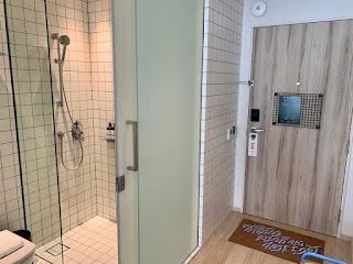 Bathroom at lyf Funan