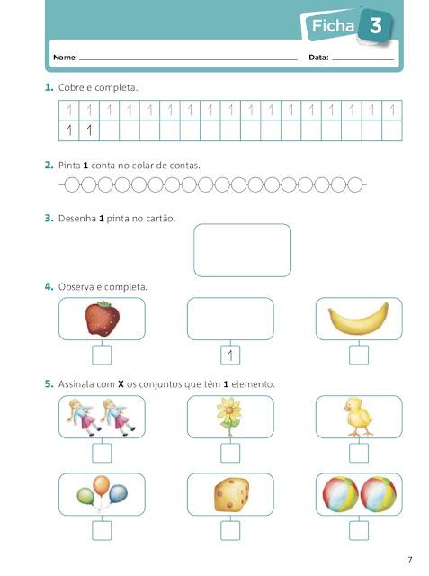 fichas matematica 1º ano
