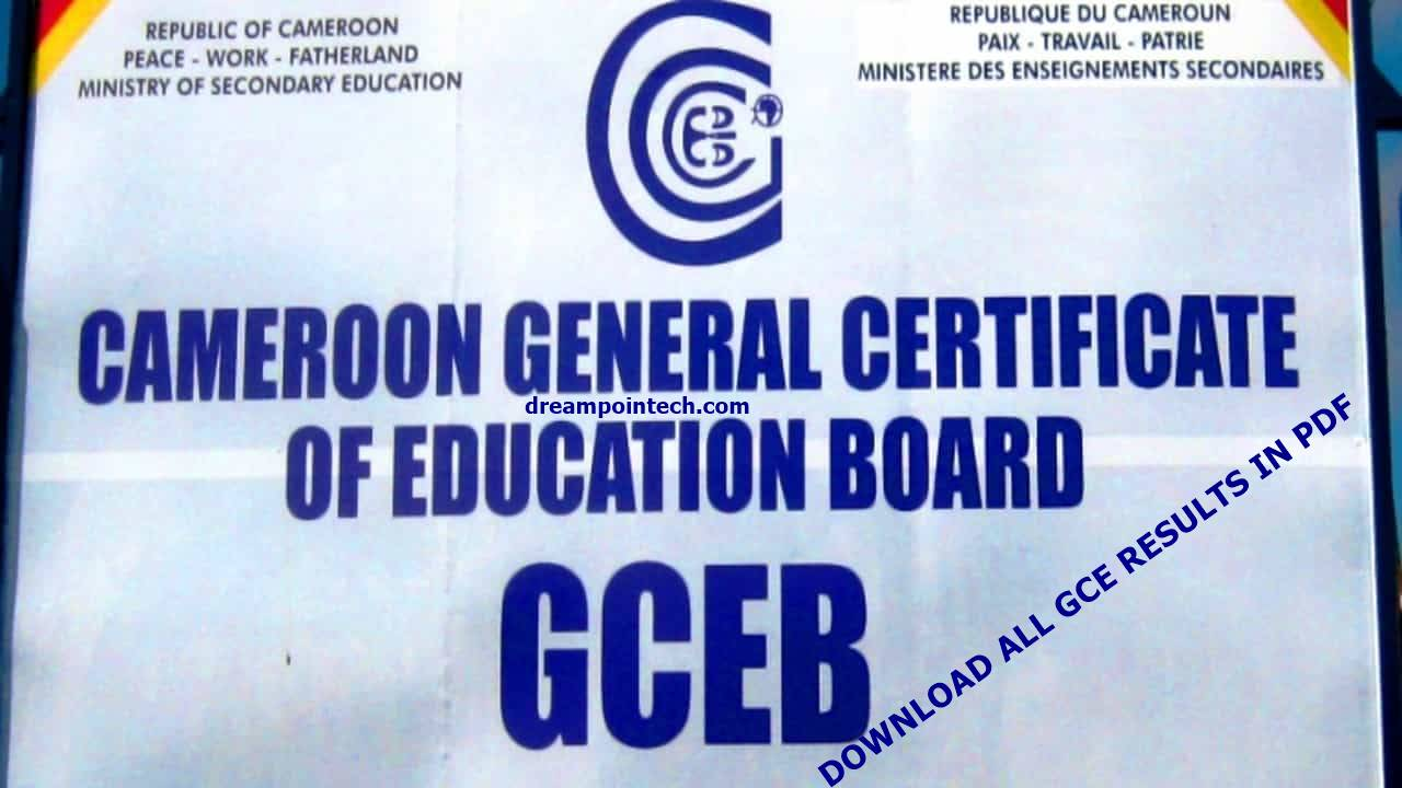 Download the Complete Cameroon GCE Board Results in PDF For All Years