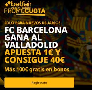 betfair promocuota Barcelona gana Valladolid 22 diciembre 2020