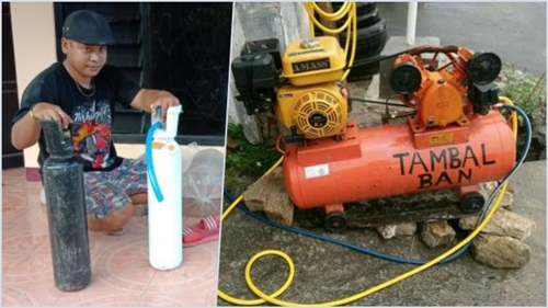 Oksigen Palsu Diduga Diisi Udara Kompresor Tambal Ban Ditemukan di Tulungagung