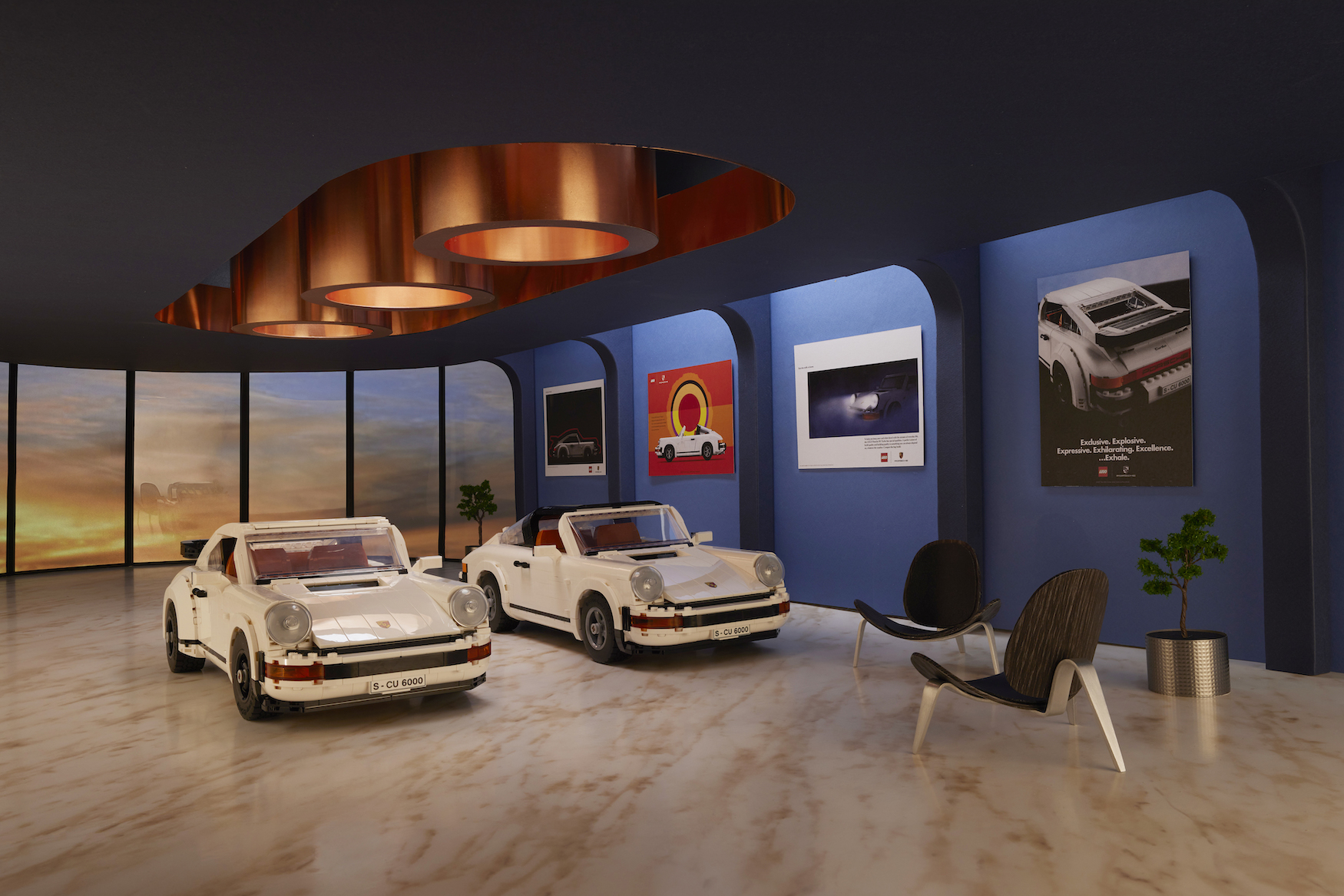 Porsche twin legends unveiled by LEGO Group