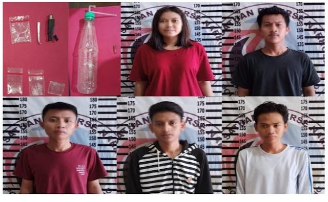 Satresnarkoba Polres Tuba Grebek Muda-Mudi Yang Tengah Asik Pesta Narkoba
