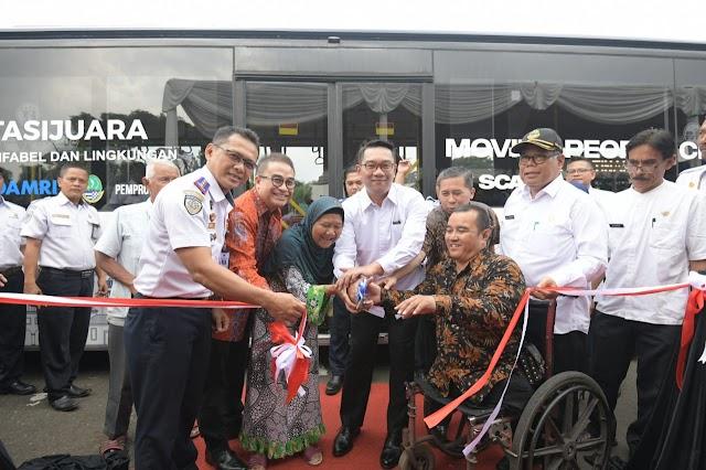 Pemprov Jabar Luncurkan Bus Khusus Ramah Semua Kalangan