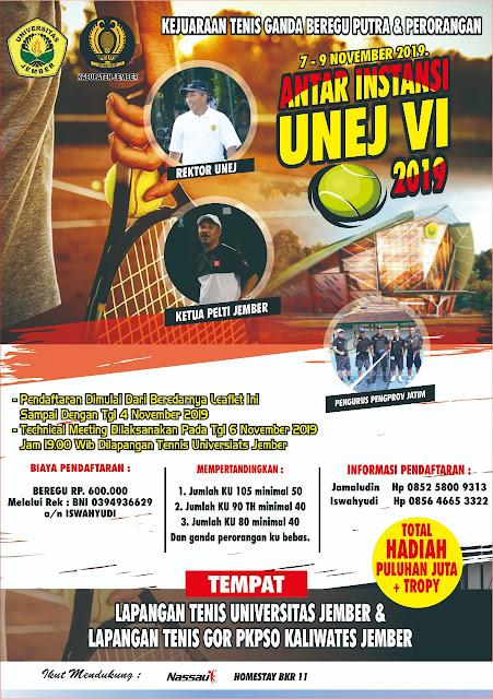 Kejuaraan Tenis Ganda Beregu Putra & Perorangan Antar Instansi Unej Cup VI