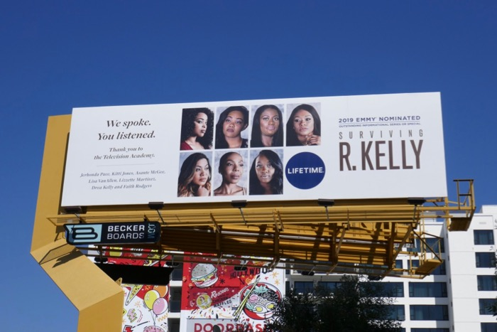 Surviving R Kelly 2019 Emmy nominee billboard