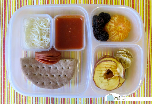 BentoLunch.net - Make Ahead Bento Lunches, Day 4, Make Your Own Pizza Lunchable
