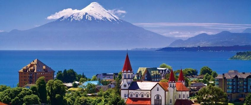 A view of Lake Llanquihue from Puerto Varas.