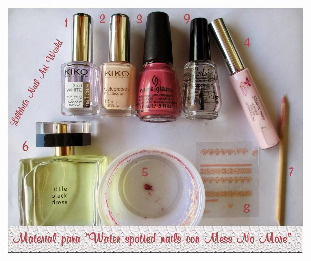 Lillibit´s Nail Art World: Water spotted nails con Mess No More ...
