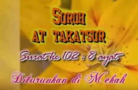 Surat At Takasur termasuk golongan surat Surat | Surah At Takasur Arab, Latin dan Terjemahannya