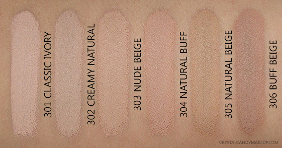 loreal infallible foundation shades