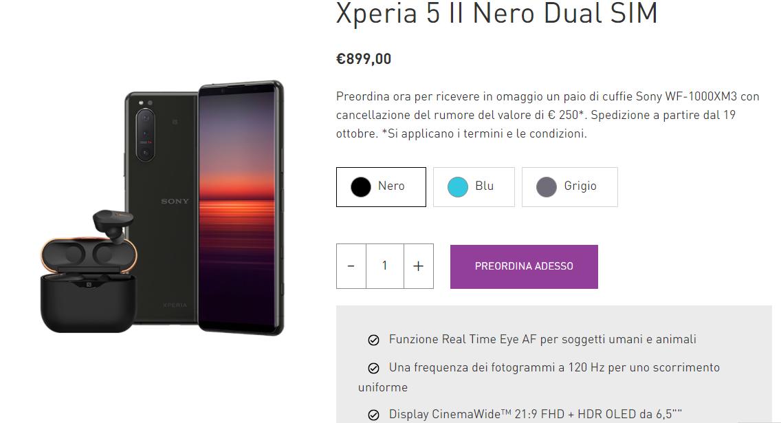 [Disponibile in Italia] Nuovo Sony Xperia 5 II: potente, compatto, 5G