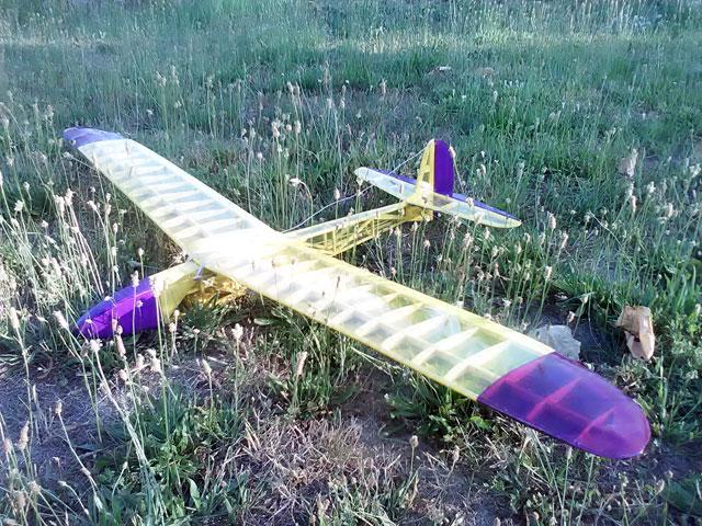 Medicine Man. Modello di aliante in stile vintage per RC o volo libero.