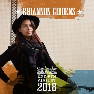 RHIANNON GIDDENS chooses artists for CAMBRIDGE FOLK FESTIVAL