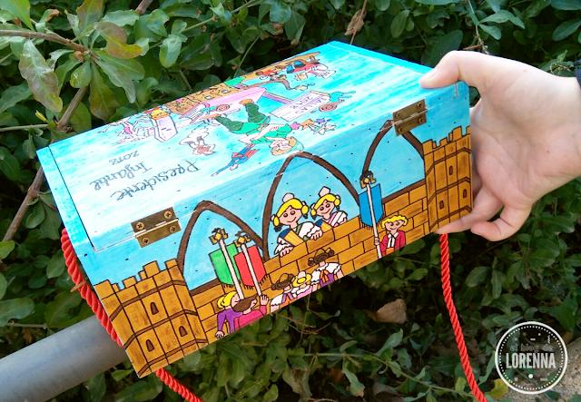 Caja de madera para petardos