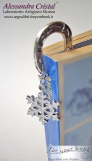 regalo natale segnalibro fiocco neve
