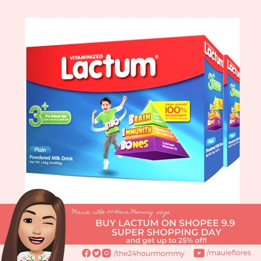 Buy Lactum 3+ and 6+ on Shopee 9.9 Super Shopping Day and get up to 25% off!