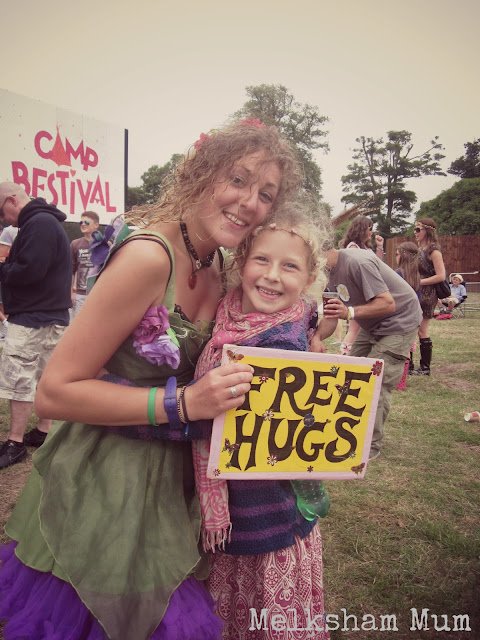 Fairy hugging at Camp Bestival 2013