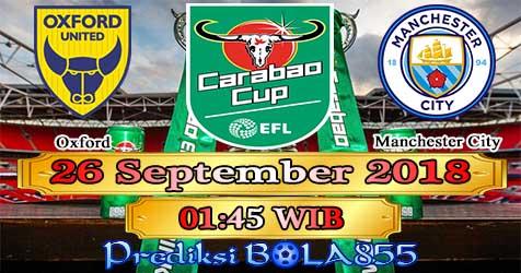 Prediksi Bola855 Oxford Utd vs Manchester City 26 September 2018