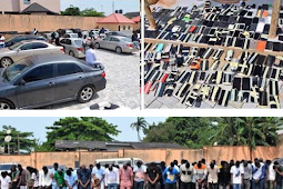 EFCC Storms Nightclub And Arrests 94 Suspected Yahoo Boys In Osogbo (Watch Video)