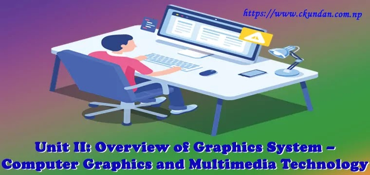 Overview of Graphics System – Computer Graphics and Multimedia Technology