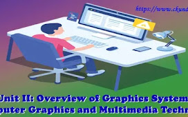 Unit II: Overview of Graphics System – Computer Graphics and Multimedia Technology