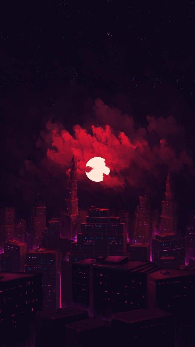 night city red wallpaper phone