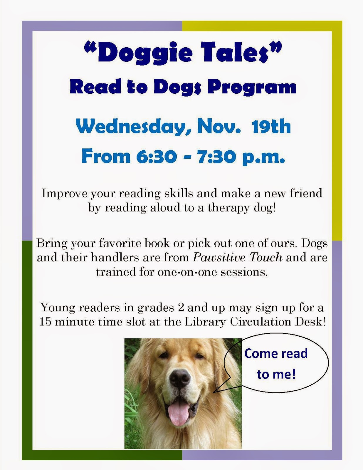 Image Result For Reading Therapy Dog
