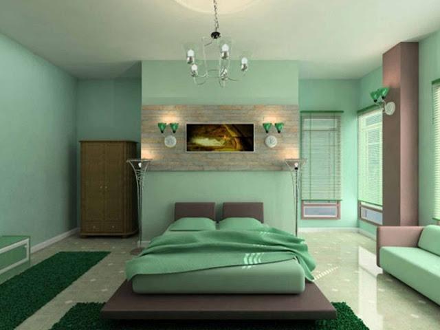 Warna Cat Kamar Tidur Yang Menenangkan - Pilihan warna cat untuk kamar tidur minimalis