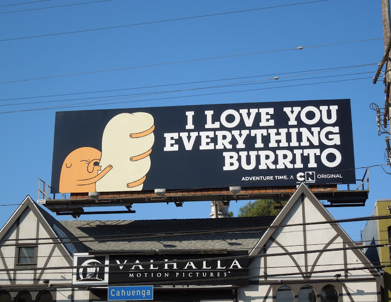 Everything burrito Adventure Time billboard