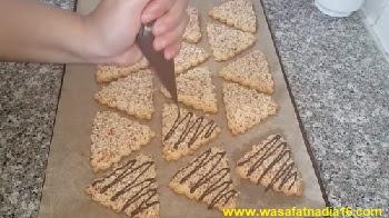 حلويات العيد لام وليد  طريقة تحضير مثلثات الكوكاو