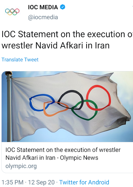 Iran executes Olympic champion wrestler Navid Afkari