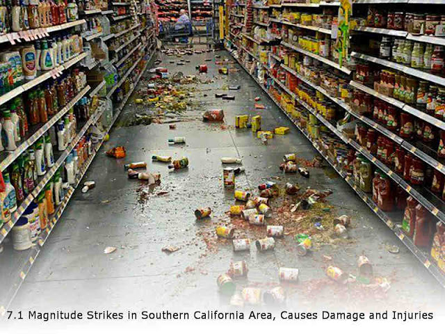 7.1 Magnitude Strikes in Southern California Area, Causes Damage and Injuries