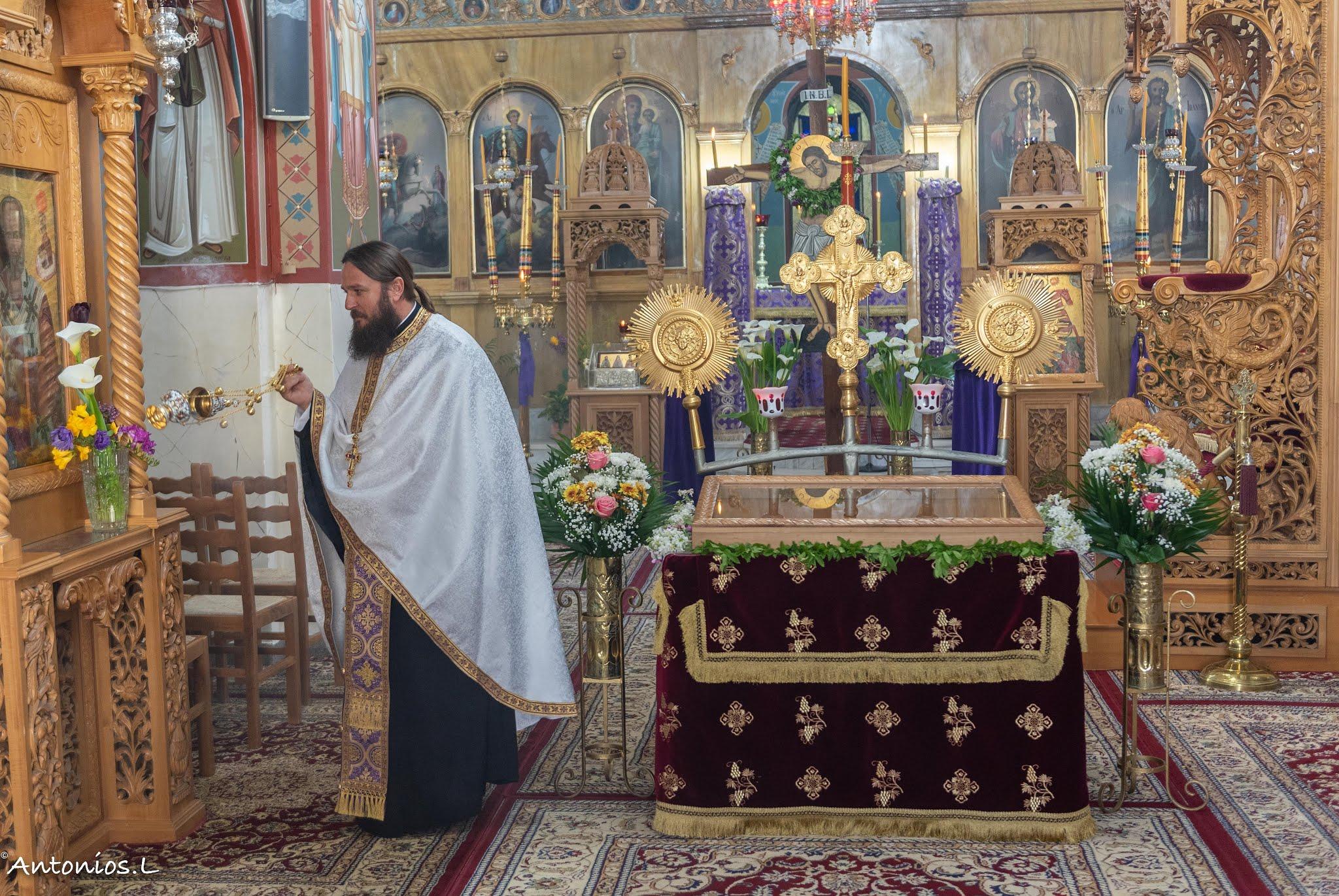 Η φωτογραφία είναι από τον ιερό ναό του Αγίου Δημητρίου στο χωριό Άγιος Ιωάννης Αλιβερίου.