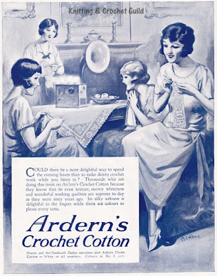 Vintage crochet cotton ad, 1920s