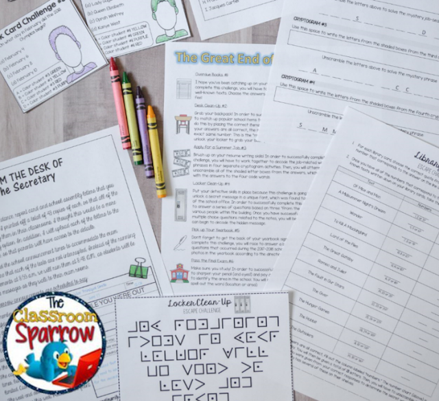 https://www.teacherspayteachers.com/Product/END-OF-THE-YEAR-Escape-Room-Activities-Trivia-Puzzle-Games-for-Students-3709793