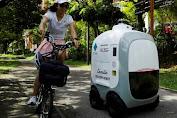 Robot Pengantar Belanja Siap Layani Konsumen di Singapura