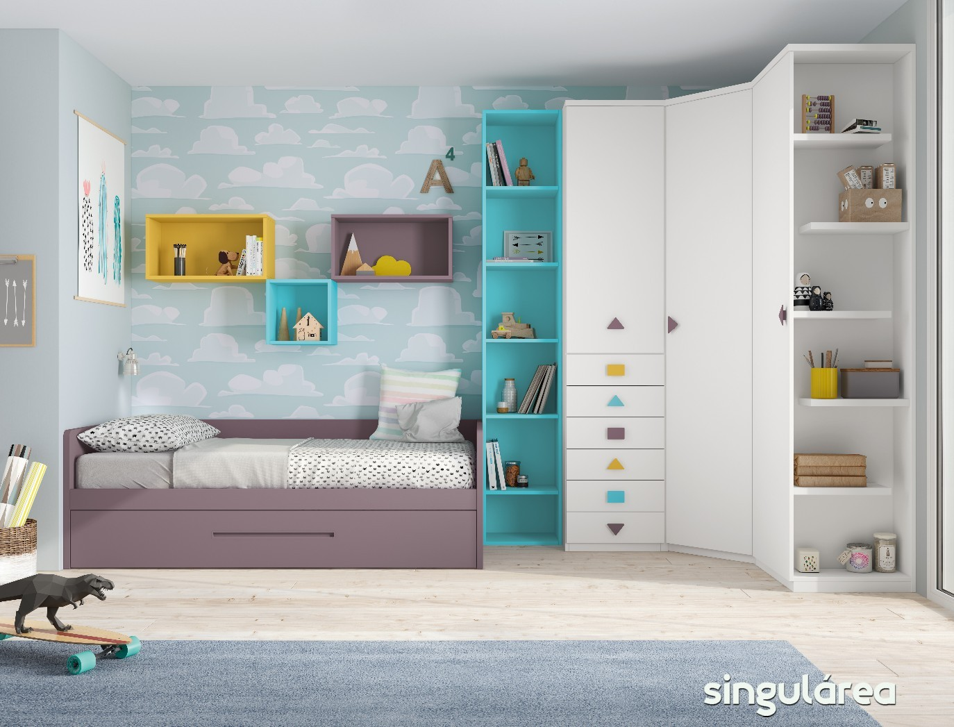 Blog dormitorios juveniles valencia novedades camas nido - Habitaciones juveniles con cama abatible ...