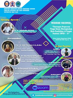 Webinar Pendidikan Ekonomi di Universitas Haluholeo