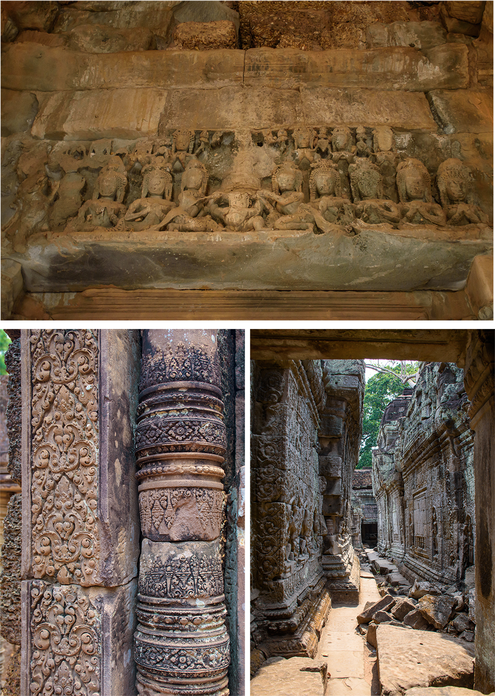 Banteay Sri, Banteay Samre, Preah Khan, Ta Som, and Neak Pean temple details
