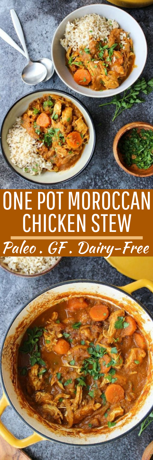 One Pot Moroccan Chicken Stew #healthy #paleo