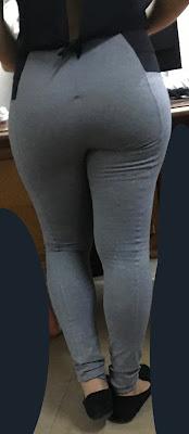 Mujeres colas redondas calzas entalladas