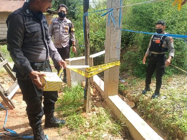 Tim Quick Response 110 dan Polsek Balikpapan Timur Datangi Lokasi Penemuan Mortir